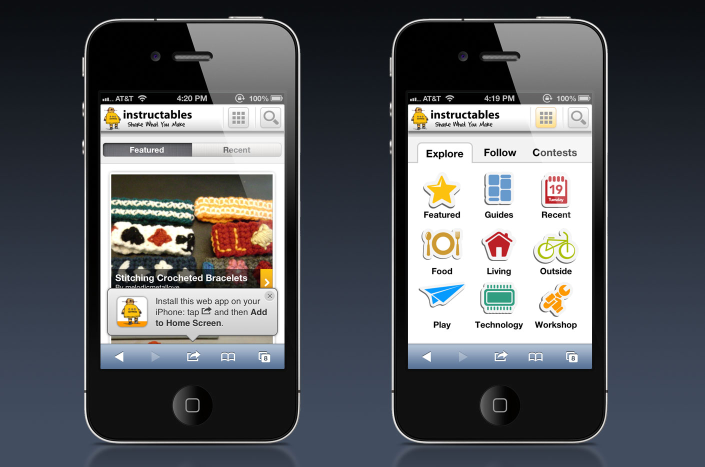 Instructables Mobile Website Commonground Creative
